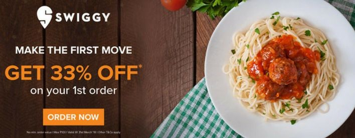 Get 33% OFF on New user 1st order with no minimum order Value