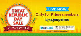Amazon Great Republic Day Sale: Up to 70% OFF + Extra 10% Instant Discount on SBI Credit Card Payment