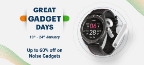 Noise Great Gadget Days: Get Up to 60% On Selected Noise Gadgets