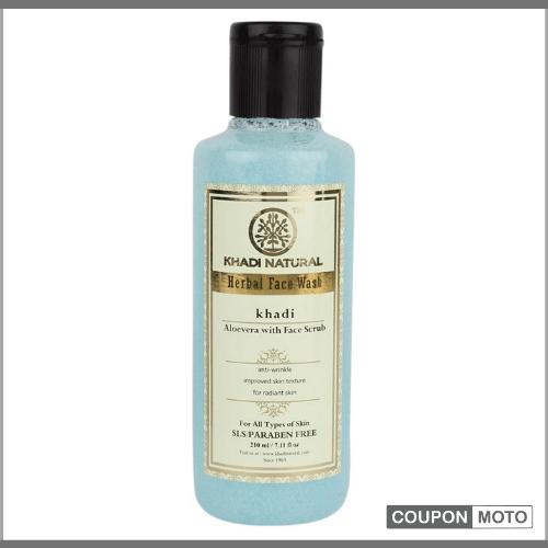 Khadi-Natural-Ayurvedic-Aloe-Vera-Face-Wash-With-Scrub