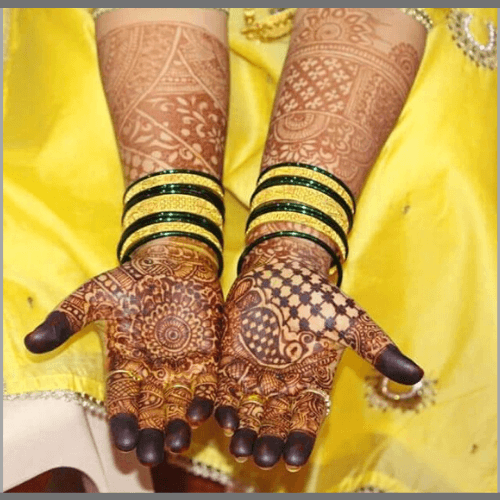 Marathi-Bridal-Mehendi-Design