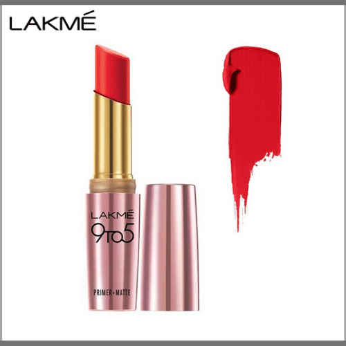 Lakme-9-to-5-Primer-Matte-Lip-Color–MR9-Red-Letter