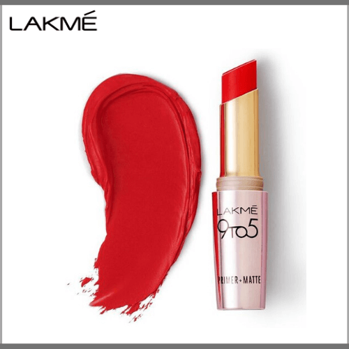Lakme-9-to-5-Primer-Matte-Lip-Color-LC-R1-Red-Coat