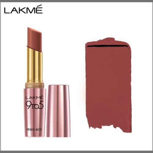 Lakme-9-to-5-Primer-Matte-Lip-Color-LC-R3-Caramel-Cut