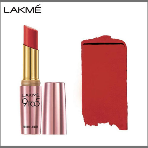 Lakme-9-to-5-Primer-Matte-Lip-Color-MR12-Crimson-Catch