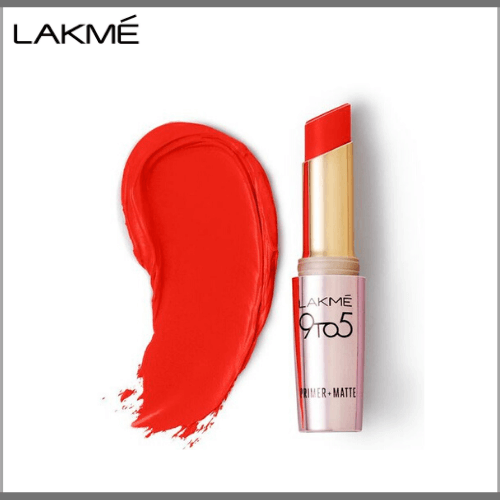 Lakme-9-to-5-Primer-Matte-Lip-Color-MR8-Orange-Edge