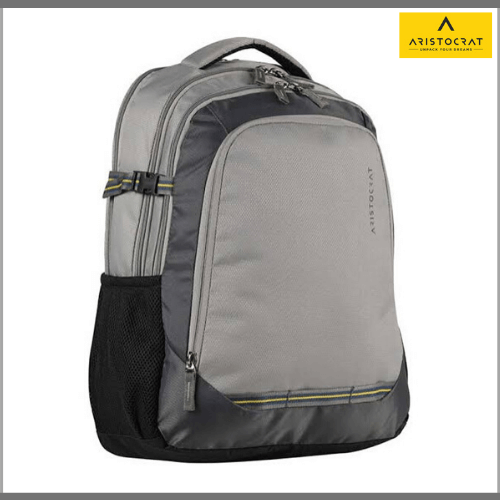 Aristocrat-Gusto-Fabric-30-Ltrs-Grey-Laptop-Backpack